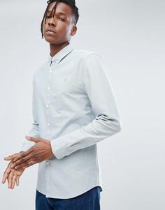Зеленая узкая оксфордская рубашка Farah Brewer - Зеленый