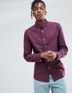 Фиолетовая оксфордская рубашка узкого кроя Farah Brewer - Фиолетовый