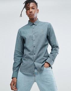 Зеленая оксфордская рубашка узкого кроя Farah Steen - Зеленый