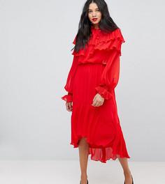 Платье с длинными рукавами Y.A.S Tall - Красный