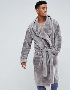 Флисовый халат ASOS - Серый