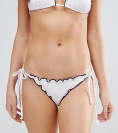 Плавки бикини с оборкой South Beach - Выбирай и комбинируй - Белый