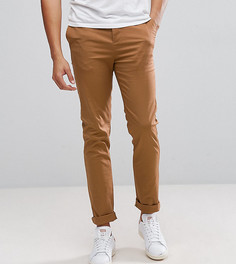 Узкие брюки чинос цвета кэмел ASOS TALL - Коричневый