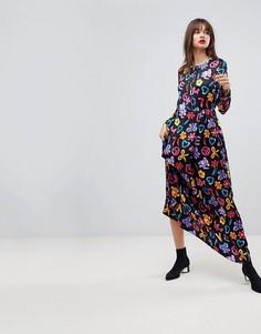 Платье макси с логотипом Love Moschino - Черный