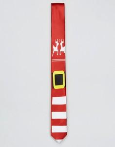 Новогодний галстук SSDD - Красный