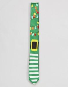 Новогодний галстук SSDD - Зеленый