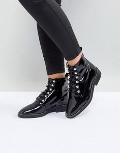 Лакированные байкерские ботинки River Island - Черный