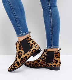 Кожаные ботинки челси для широкой стопы ASOS AUTOMATIC - Мульти