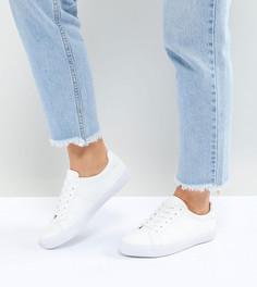 Кроссовки для широкой стопы на шнуровке ASOS DEVLIN - Белый