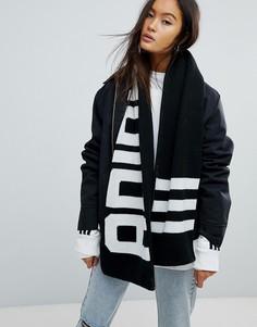 Шарф с логотипом adidas Originals - Черный