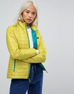 Зеленая дутая куртка Patagonia Nano - Зеленый