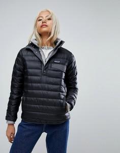 Черная куртка с кнопками Patagonia - Черный