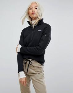 Черная трикотажная куртка с молнией Patagonia - Черный
