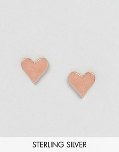Позолоченные серьги-гвоздики в форме сердца Dogeared - Золотой