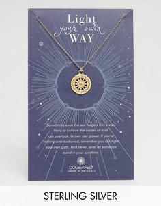 Позолоченное ожерелье с подвеской Dogeared Light Your Own Way Sun Salutation - Золотой