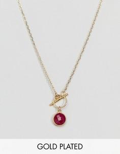 Позолоченное ожерелье Because Shes Fiery Dogeared - Золотой