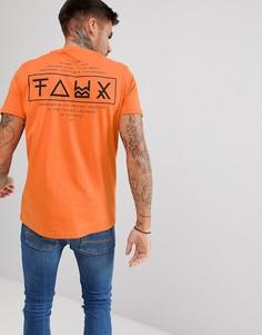 Футболка с принтом на спине Friend or Faux Limitless - Оранжевый
