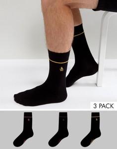 Набор из 3 пар черных носков Original Penguin - Черный