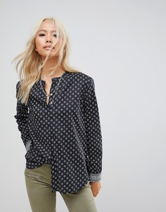 Рубашка без воротника Maison Scotch - Темно-синий