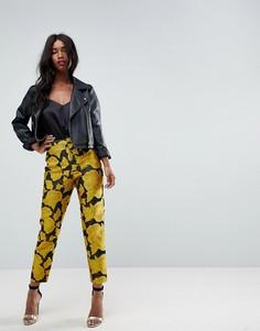 Облегающие жаккардовые брюки ASOS - Мульти