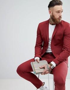 Супероблегающий пиджак Selected Homme - Красный