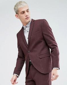 Приталенный пиджак Selected Homme - Красный