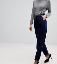 Суженные книзу джинсы цвета индиго с моделирующими швами и ремнем ASOS TALL - Синий