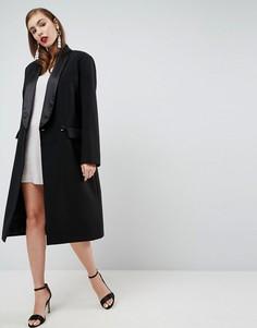 Пальто узкого кроя в стиле смокинга ASOS - Черный