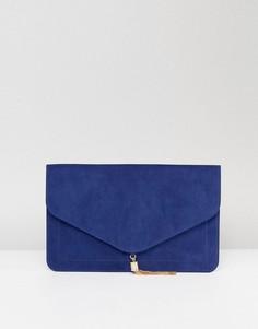 Клатч с кисточкой ASOS - Темно-синий