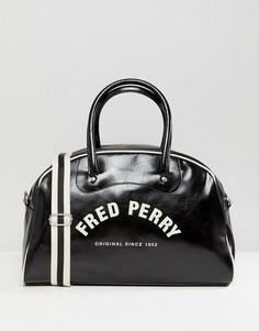Сумка черного/серовато-желтого цвета с логотипом Fred Perry - Черный
