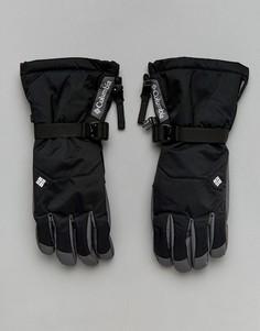 Черные непромокаемые горнолыжные перчатки Columbia Whirlibird - Черный