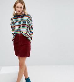 Вельветовая мини-юбка Monki - Красный