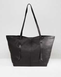 Кожаная сумка-шоппер ASOS - Черный