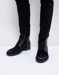 Кожаные ботинки Jack & Jones - Черный