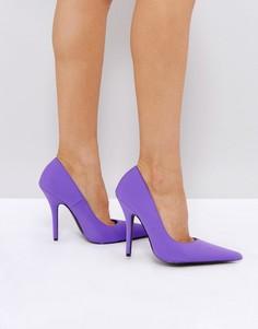 Туфли на каблуке-шпильке Public Desire Tease - Фиолетовый