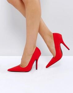 Туфли на каблуке-шпильке Public Desire Tease - Красный