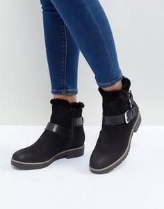Кожаные ботинки с подкладкой из искусственного меха Dune London Persia - Черный