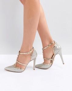 Туфли-лодочки с острым носком и заклепками Dune London Deanerys - Золотой