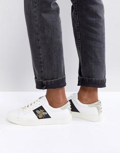 Кожаные кроссовки с отделкой в виде пчел Dune - Белый