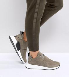 Замшевые кроссовки adidas Originals NMD C2 - Коричневый