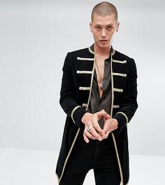 Черное велюровое пальто Reclaimed Vintage Inspired - Черный