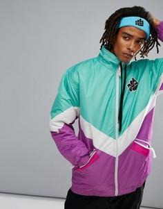 Зелено-фиолетовая горнолыжная куртка OOSC Folie - Фиолетовый Old School Ski
