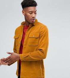 Свободная вельветовая рубашка горчичного цвета ASOS TALL - Желтый