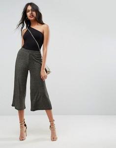 Широкие брюки с блестками цвета металлик ASOS - Золотой