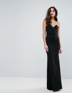 Платье-бандо макси Outrageous Fortune - Черный