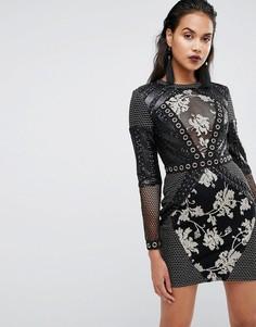Облегающее платье с пайетками Boohoo Premium - Черный