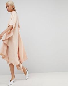 Платье миди ASOS WHITE - Бежевый