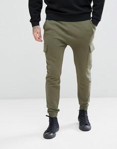 Зеленые джоггеры скинни с карманом карго ASOS - Зеленый