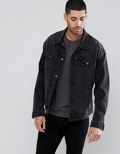 Черная джинсовая куртка оверсайз Lee Rider - Черный