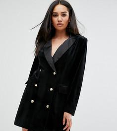 Платье-блейзер с отделкой Missguided - Черный